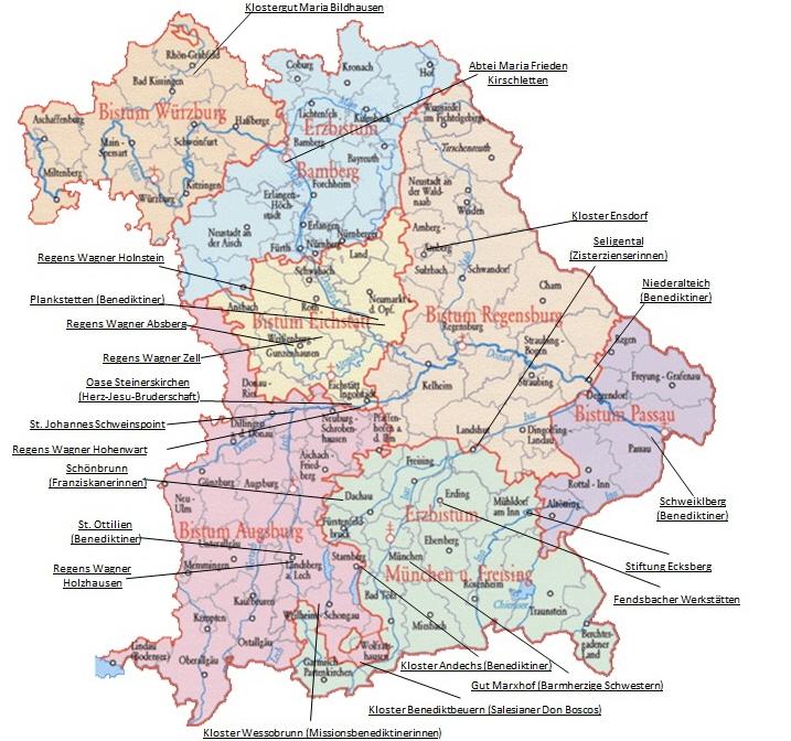Klöster In Deutschland Karte